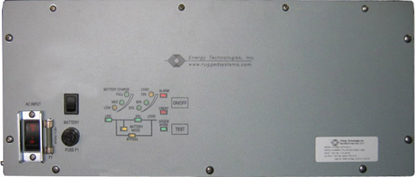 <br />ETI0001-2275 Rugged MilSpec UPS Standard Front Panel Layout